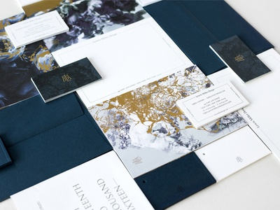 Branding Collateral gold foil business cards offset lithography postcards branding collateral print