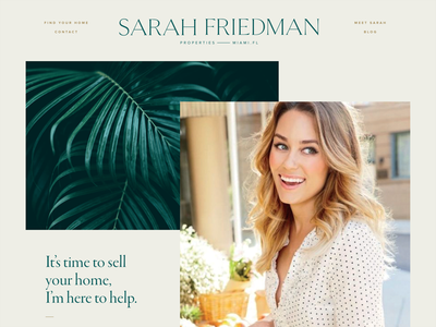 Website palm trees web design real estate miami florida branding realtor typography broker website