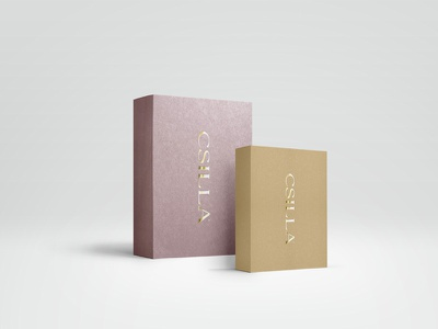 Jewelry Box mockup lavender foil gold boxes box jewelry packaging