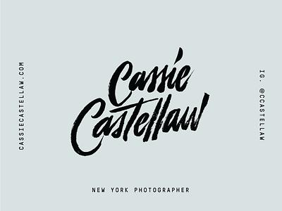 Lettered Logo wordmark logo photographer lettering brush script hand-drawn