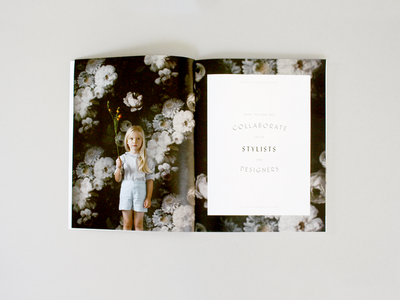 Mozi Spread publication editorial photography child kid floral magazine mozi