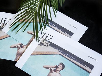 Photography Promo self promo promo print monogram pool tree palm newsprint photography