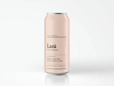 Rosé Concept aluminum typography design minimal alcohol can wine blush rosé