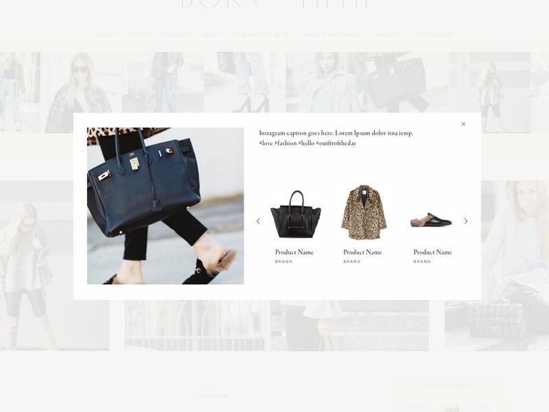 Popup website design interface ux ui popup blog blogger fashion