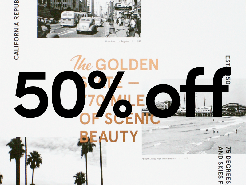 50% OFF copper foil shop photography vintage typography california print