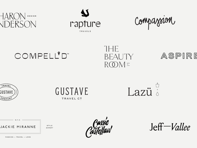 Logo Roundup 2017 end of year review wordmark logotype collage collection roundup logo