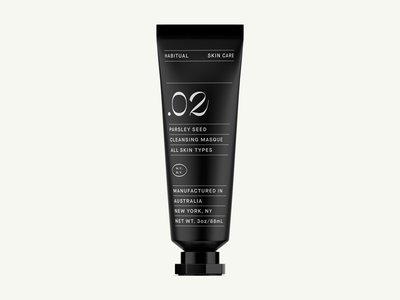 Habitual Skin Care skin care typography tube mask moisturizer clean minimalism beauty packaging numbers