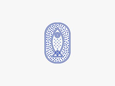 Tuna Logo vintage geometric tuna salmon flounder poke branding sardine restaurant blue fish logo