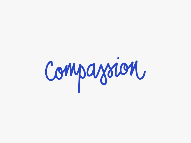 Compassion Club lettered logo monoline playful quirky script logo wordmark lettering