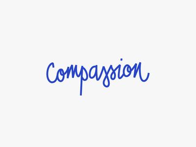 Compassion Club lettered logo monoline playful quirky script logo wordmark lettering