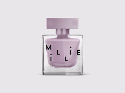 Luxury Nail Polish color purple lavender branding millie sophisticated luxury typography design packaging beauty