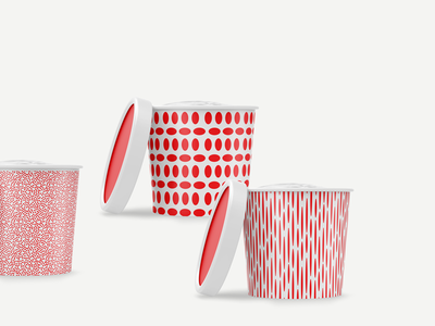 Ice Cream Packaging frozen yogurt branding gelato packaging red playful pattern artisan sorbet food