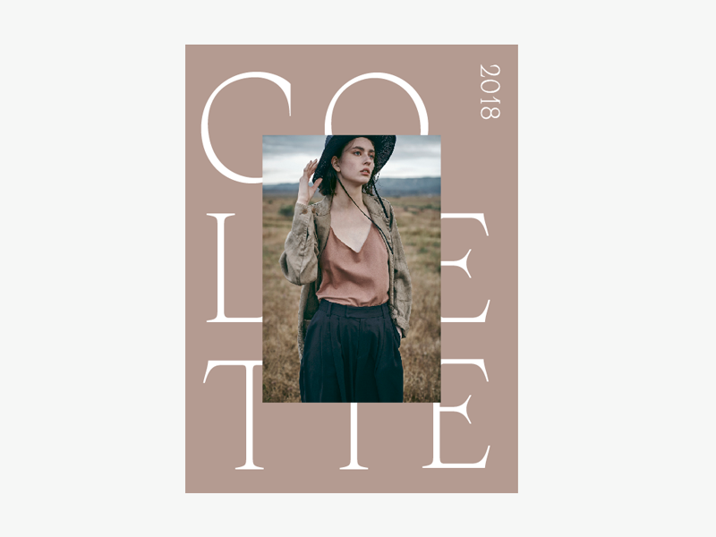 Colette typography photographer collateral print pamphlet booklet brochure magazine book promo cover