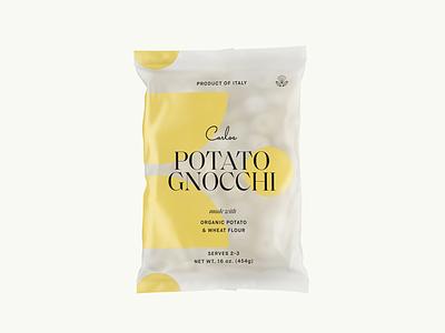 Potato Gnocchi product dieline print bag gnocchi pasta packaging food