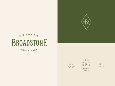 Branding Project monogram badge submark green sage hipster california lifestyle apartment branding