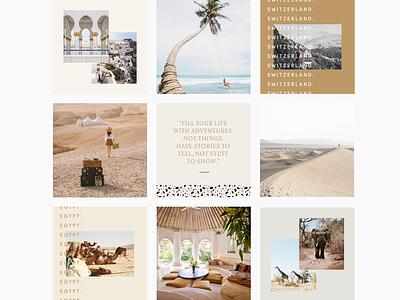 Rapture Social Feed layout branding travel design feed instagram