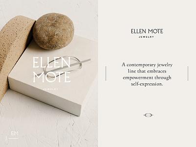 Ellen Mote Jewelry art direction logotype beauty logo typography branding jewelry