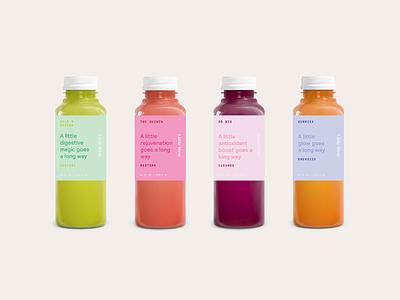 Juice Packaging juicing branding colorful color beverage drink food packaging juice