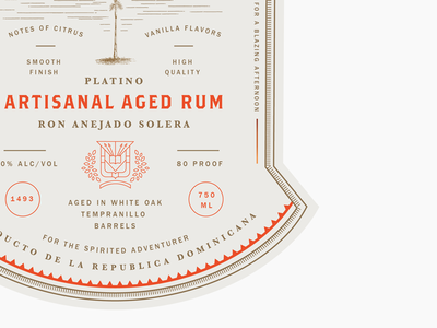 Rum Packaging type details layout design wine spirits liquor label typography packaging rum