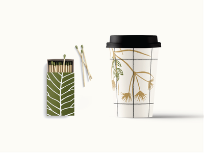 Put a plant on it green match box matchbook shop los angeles brunch restaurant cafe coffee coffee cup branding