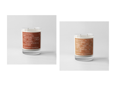 Anecdote Candles velvet rust layout typography label mockup label design labeldesign candles packaging mockup packagedesign packaging