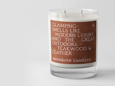 Anecdote Candles product skincare cosmetic logo branding typography label design label candle candles packaging packagedesign