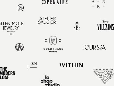 Logo RoundUp 2018 brand identity branding custom logotype monogram icon secondary mark submarks wordmarks year in review review roundup logos logo design logo