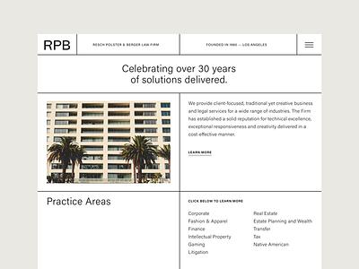 RPB Website typography layout column site columns grid lines grid website design uiux website webdesign website banner