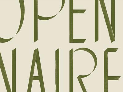 Openaire Logo custom logo custom letters custom font logotype branding hand-drawn painted texture logo