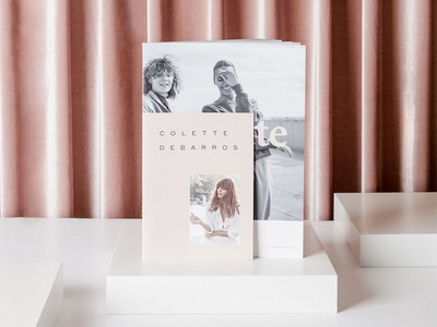 Colette Lookbook cover design double cover pink lookbook design booklet design promo lookbook catalog book print curtain art direction photography