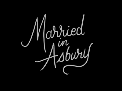 Married in Asbury custom drawn custom logo logotype hand-drawn lettering script lettering script brand identity branding logo