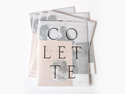 Colette Envelope cover design catalog lookbook promo typography envelope print transparent vellum