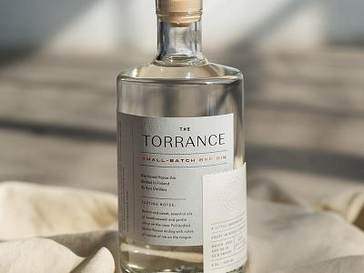 The Torrance Gin print beverage labeldesign label packaging design bottle alcohol spirits packaging