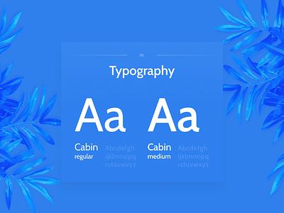Typography card web typography minimal