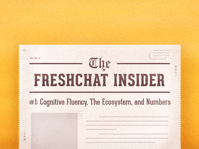 Freshchat Insider For Dribble art design flat design newspaper insider news typography holidays vector blog photoshop stipple illustration