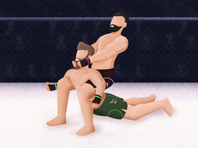 Dear Aircall, it is time to tap out. fight comparison photoshop wrestling winner sports flat design design vector alternative illustration blog stipple