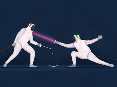 Dear RingCentral customers, a new hope is born fight game fencing design vector stipple art winner flat design alternative sports blog photoshop illustration comparison