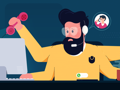 How To Feel Less Overwhelmed More Productive customer service agent tools stress workload productive overwhelmed collaboration vector freshworks chennai flat design design blog illustration