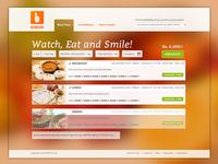 Eatos Landing Page ui ux interaction design landing page branding