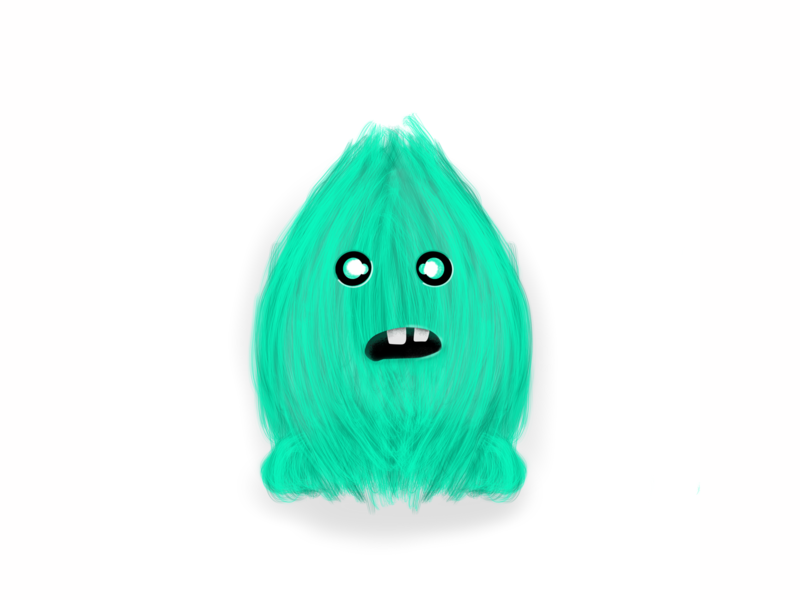 Cute Little Hairy Monster monsters monster web design cartoon ipad love flat sketch doodle art ui illustration