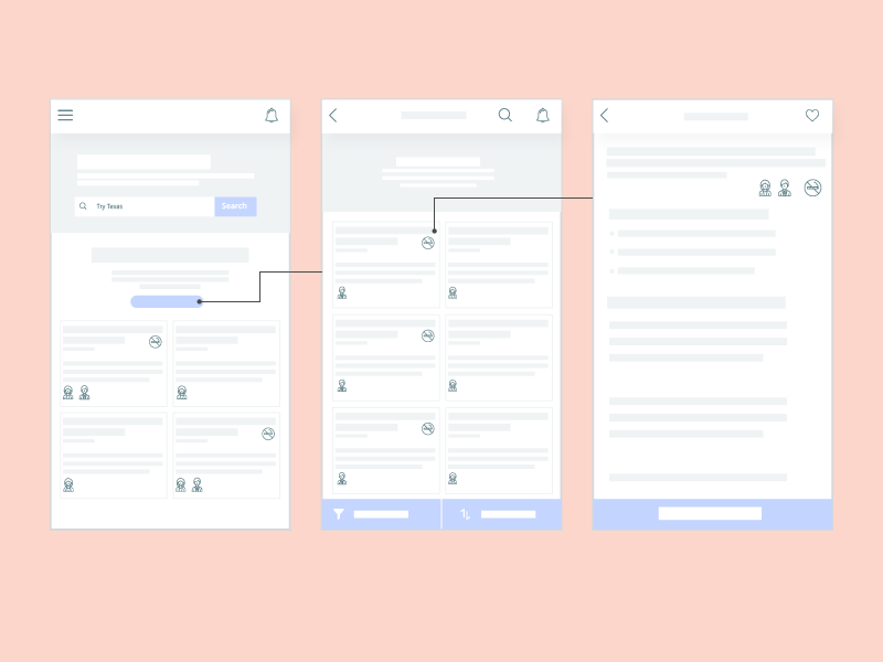 Mobile App Wireframe wireframe ui ux mobile