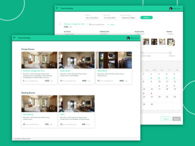 Hotel Room Booking Web App for Hotel Manager trips travel guests green hotel booking hotel minimal modern concept ux design webdesign case study ui design uiux web app website designer design ux ui