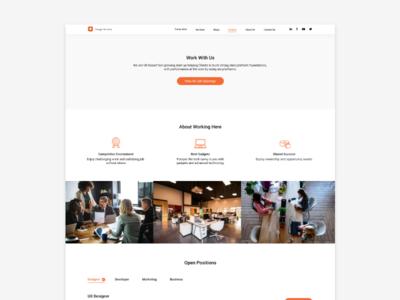 Career Page Design website concept website design brand identity flat typography minimalist modern career branding web ui design art ux