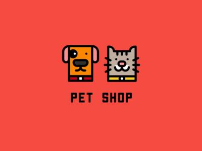 Logo for a Pet Shop love website minimal icon typography app mobile ui sketch vector logo cartoon flat web branding design doodle art illustration
