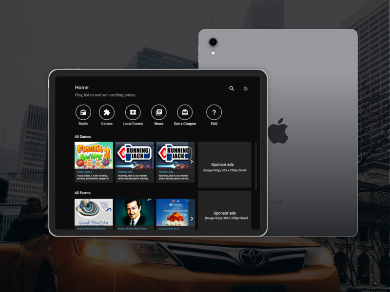 Entertainment App for Taxi's ui ui design ui  ux uiux mobile app web design type web app website ipad tablet ux design