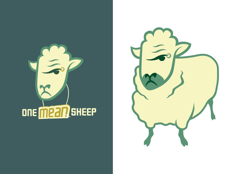 One Mean Sheep Logos