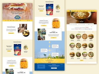 2015 Crystal Farms Cheese web ui design