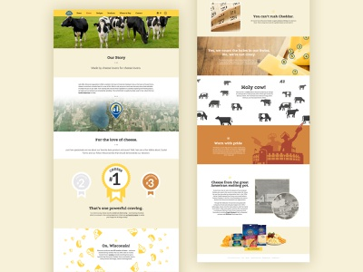 2015 Crystal Farms Cheese Story ux web design ui