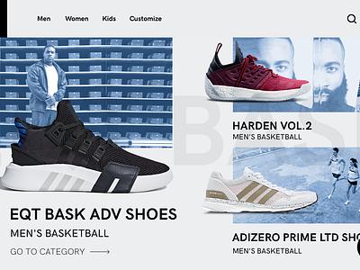 Adidas concept grid clean design web ux ui concept adidas