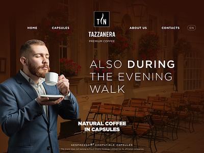 Tazzanera - coffe brand design web ux ui animation coffee